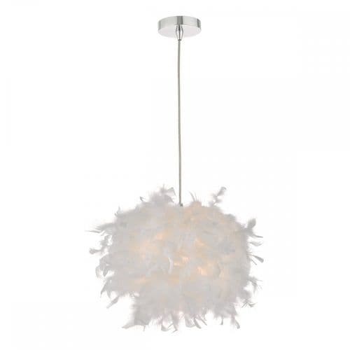 Dar FEA652 Feather Easy Fit Pendant White